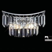 Gianni Wall Light in Polished Chrome and Crystal, Switched - Diyas IL30641